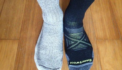 下山で足の裏が痛くなる人は靴下を見直すのもいいかもしれない