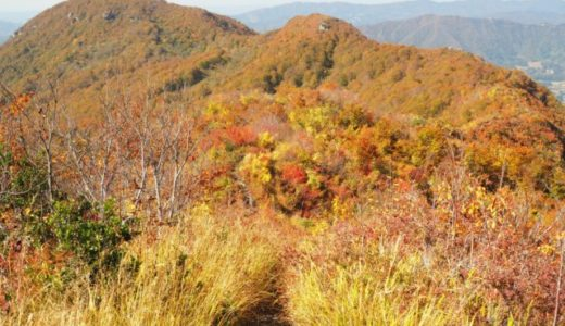 紅葉と雲海の権現堂山登山