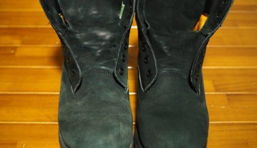 ティンバーランドの黒ブーツを手入れして色あせの補色してみた結果