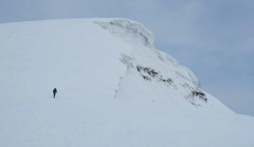 雪屁を見に3月の守門岳