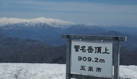 飯豊連邦を見ながら残雪尾根歩き【大蔵山~菅名岳へ周回】