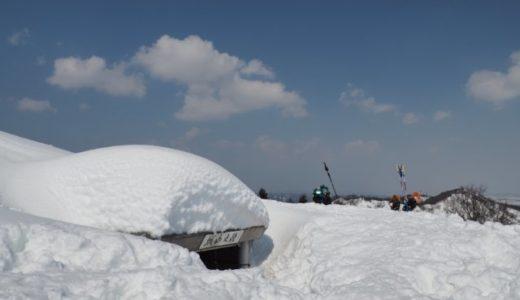 冬の時水城山
